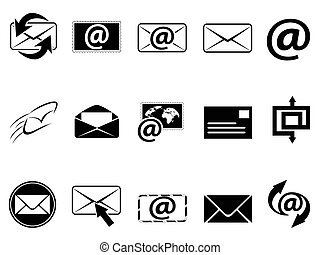 simbolo, set, email, icone