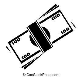 simbolo soldi, vettore