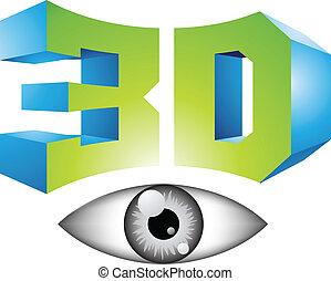 simbolo, tecnologia, mostra, 3d