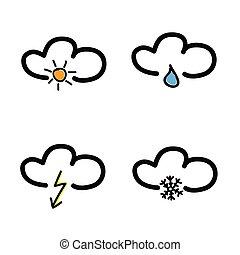 simbolo tempo, vettore, illustrazione, previsione