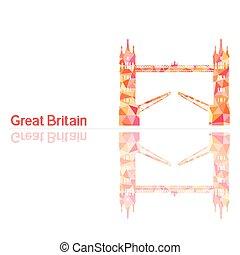 simbolo, torre, grande, bridg, gran bretagna