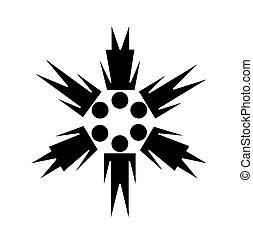 simbolo, vettore, comunità