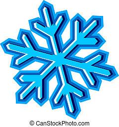 simbolo, vettore, fiocco di neve