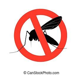 simbolo, zanzare, uccidere