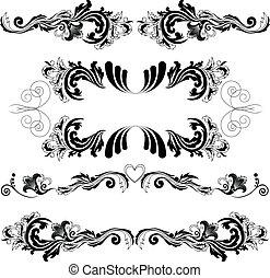 simmetrico, 2, set, ornamenti