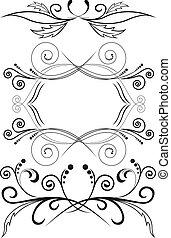 simmetrico, set, ornamenti