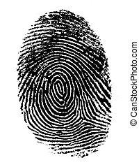 singolo, 2, nero, impronta digitale