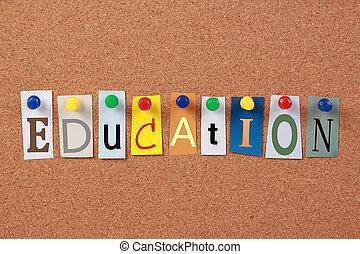 singolo, educazione, parola
