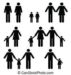 singolo, famiglia, due, genitore