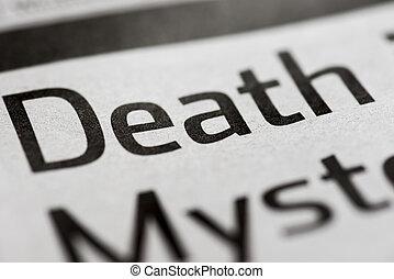 singolo, morte, parola
