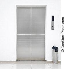 singolo, porta, ascensore