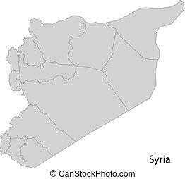 siria, grigio, mappa