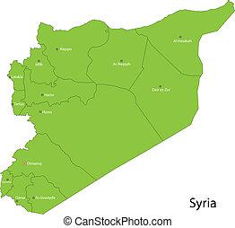 siria, mappa verde