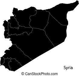 siria, nero, mappa