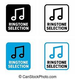 """sistema, funzione, """"ringtone, suoni, selection"""""""