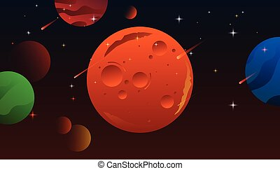 sistema, marte, solare, planets.