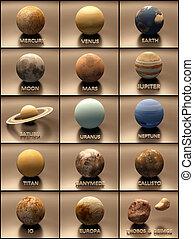 sistema solare, pianeti, lune