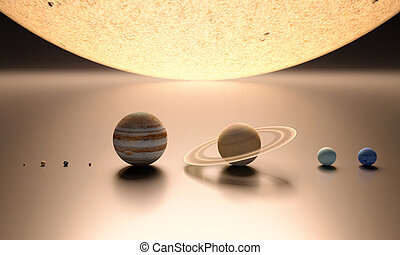 sistema, solare, vuoto