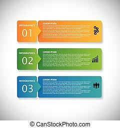 siti web, questo, sequenza, &, usato, etichette, banners., marketing, passi, vettore, infographic, colorito, grafico, semplice, -, essere, presentazioni, pubblicità, ecc, webdesigns, materiali, affari, lattina