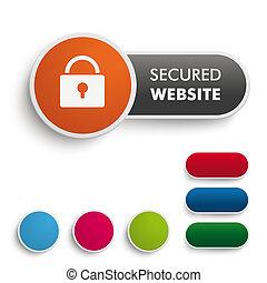 sito web, arancia, assicurato, nero