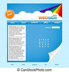 sito web, arcobaleno