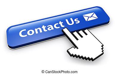 sito web, bottone, contatto, email, ci