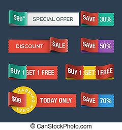sito web, scontare, nastri, vendita, collezione