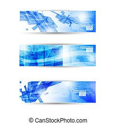 sito web, set, affari, astratto, moderno, testata, aviatore, bandiera, o