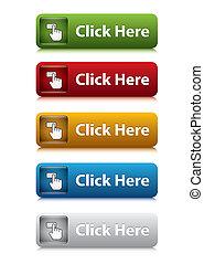 sito web, set, colorare, bottone, qui, 5, scatto