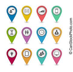 sito web, set, disposizione, icone affari, disegno, infographics