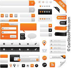 sito web, set, grafica