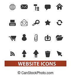 sito web, set, vettore, icone