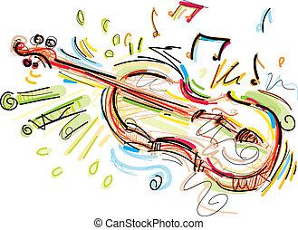 sketchy, violino