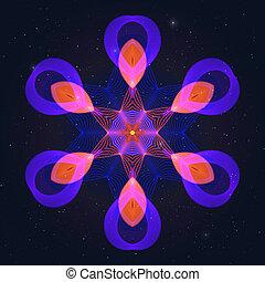 sky., flamy, stellato, simbolo, gas, caldo, geometrico