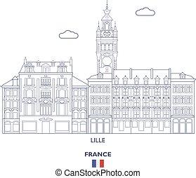 skyline città, lille, francia