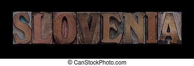 slovenia, vecchio, legno, tipo