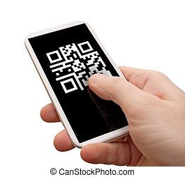 smartphone, codice, qr