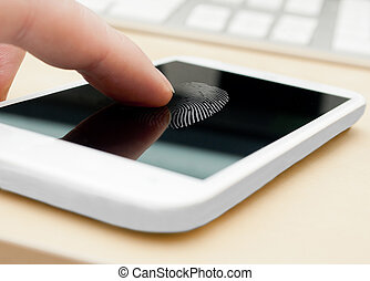 smartphone, impronta digitale