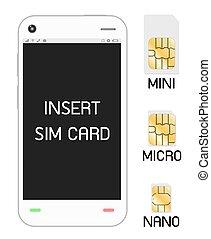 smartphone, sim, scheda