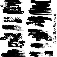 smears, bianco, carta, inchiostro nero
