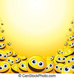 smiley, fondale