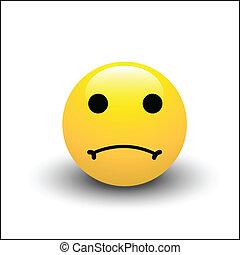 smiley, triste, faccia