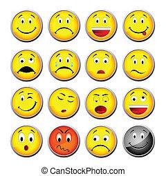 smileys, giallo