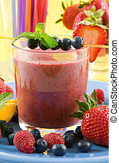 smoothie, bacca