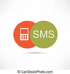 sms, icona