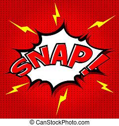 snap!, discorso, comico, bolla