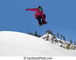 snowboard, saltare