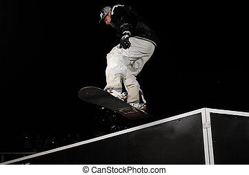 snowboarder, salto, stile libero