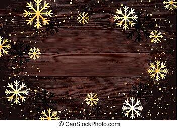 snowflakes., astratto, moderno, editable, illustrazione, natale, fondo., vettore, facile, template.