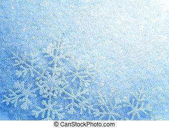 snowflakes., fondo., inverno, neve, natale